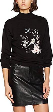 Miss Selfridge Flute Sleeve V tee, Blusa para Mujer, Negro (Black Black), 38
