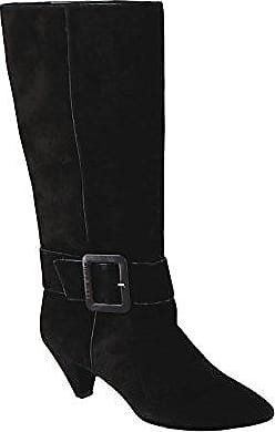 Damen Stiefel Boots SONIA Buckle Boot in Schwarz aus Wildleder (40 EU, Schwarz (Black)) Miss Sixty