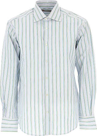 Shirt for Men On Sale, Light Blue, Cotton, 2017, 15.75 17 Missoni