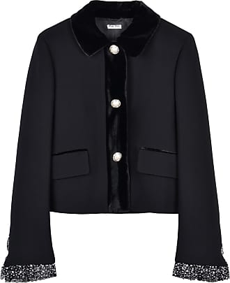 Short Jacket Short Miu Crystal Jacket Embellished Miu Crystal Embellished z0qZwn8AW