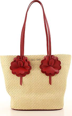 Shoulder Bag for Women On Sale, Straw, Straw, 2017, one size Miu Miu