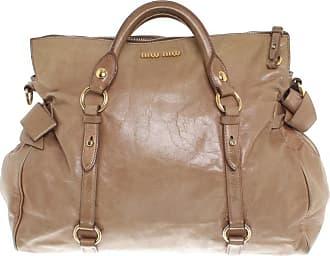 gebraucht - Handtasche - Damen - Creme - Canvas Miu Miu QrTbN