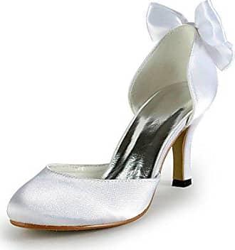 Miyoopark , Damen Sling Backs , weiß - White-5cm Heel - Größe: 40
