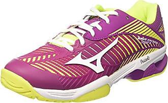 Womens Wave Exceed Tour Cc WOS Tennis Shoes, Violet/Jaune Mizuno