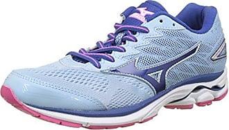 Mizuno Wave Rider (w), Chaussures de Running Femme, Multicolore (Whitepink Globlueprint), 40 EU