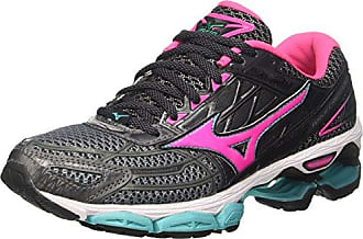 Mizuno Ezrun, Sneakers Basses Femme, Multicolore (Black/White/Quietshade 001), 42 EU