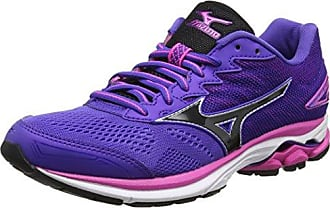 Mizuno Wave Inspire 14, Sneakers Basses Femme, Multicolore (Teaberry/Whi/Bluedep 001), 36.5 EU