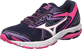 Mizuno J1GF1719, Chaussures de Running Femme - Multicolore - Multicolore (BlueAtoll/AtomicBlue/Safetyyellow 23), 41 EU EU