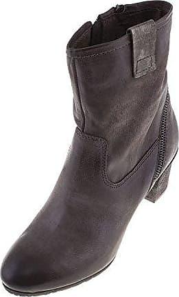 HooH Damen Halbschaft Stiefel Winter Matt High Heel Reißverschluss Knie hoch Stiefel Braun 37 EU IOwXQMJ