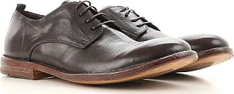 Lace Up Shoes for Men Oxfords, Derbies and Brogues On Sale, Ebony, Leather, 2017, 9 Moma