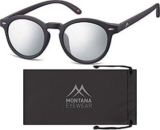 Montana MS33, Occhiali da Sole Unisex-Adulto, Multicolore (Black + Revo Silver Mirror), Taglia unica