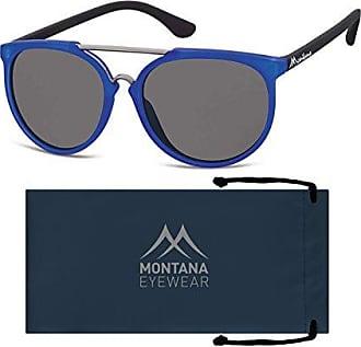 Montana MP41, Lunettes de Soleil Mixte, Multicolore (Black + Blue + Smoke Lenses), Taille Unique