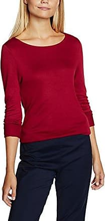 More & More Langarmshirt Josie, Camiseta de Manga Larga para Mujer, Rojo (Vintage Red 0546), 42