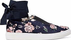 Mother Of Pearl Woman Lace-up Embellished Canvas Slip-on Sneakers Black Size 36 Mother Of Pearl VG4DM