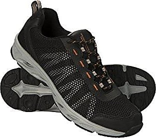 Mountain Warehouse River Aqua-Schuhe für Herren - Wasserschuhe, Netzstoff, Gummidämpfer im Zehenbereich, Neoprenfutter, Abflusssystem in der Laufsohle - Für Tauchen, Pool Schwarz 44