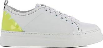 Damen 2441Mds02070 Weiss Leder Sneakers Msgm UYatpV