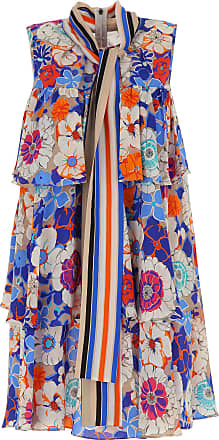 Dress for Women, Evening Cocktail Party On Sale, Blue, Silk, 2017, UK 8 - US 6 - EU 40 UK 10 - US 8 - EU 42 Msgm