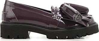Loafers for Women On Sale, Wine, Patent Leather, 2017, 3.5 7.5 Msgm