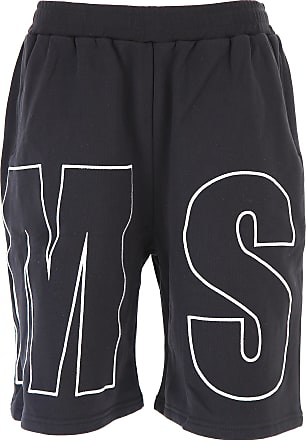 Shorts for Men On Sale, Black, Cotton, 2017, L M Msgm