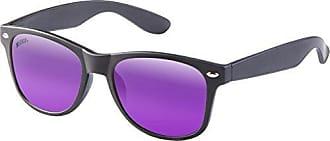 MSTRDS Likoma Mirror Unisex Sonnenbrille Für Damen und Herren mit verspiegelten Gläsern, black/purple/purple