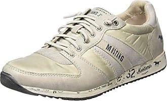 Schnürhalbschuh, Damen Sneakers, Grau (273 Graphit/Grün), 37 EU Mustang