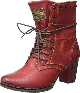 Mustang Schnür-Booty, bottes & bottines femmeRougeRot (rot 5), 42 EU