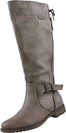 Mustang Damen Plateau-Stiefel Dunkelgrau, Schuhgröße:EUR 37