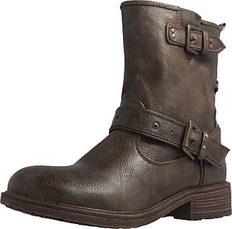 Mustang Shoes Boots in Übergrößen, weiß, Elfenbein 203 Ice Mustang Jeans