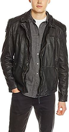 Leather Rico, Chaqueta para Hombre, Negro (Black 1000), Small Mustang