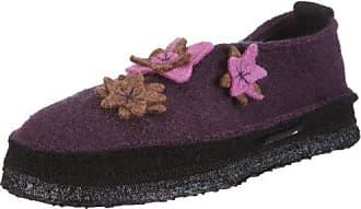 Herbstwald 03-0051, Damen Klassische Hausschuhe, Violett (dunkelviolett 45), EU 36 Nanga