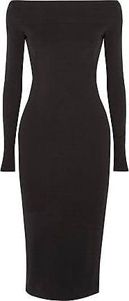 Narciso Rodriguez Woman Off-the-shoulder Stretch-crepe Dress Black Size 40 Narciso Rodriguez Cheap Sale Reliable Clearance Find Great Collections Cheap Price aTZoCz44