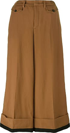 cropped wide-leg trousers - Brown N Cheap Sale Cheapest Price Outlet Hot Sale Buy Cheap Popular Free Shipping Latest Collections TMaaCyrt