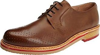 Neosens S091 Restored Skin Aris, Zapatos de Cordones Oxford para Hombre, Marrón (Cuero), 41 EU