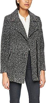 New Look Collarless Fleck, Abrigo para Mujer, Negro (Black Pattern 9), 38
