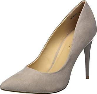 Nouveau Look Kar, Chaussures À Talons Et Femme Bande Verticale, Gris (gris Moyen 4), 37 Eu