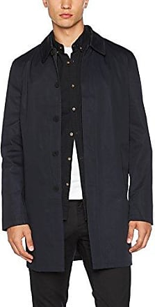 Single Breasted Mac, Chaqueta para Hombre, Black (Black 01), Medium New Look