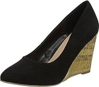 New Look Wide Foot Skinny, Zapatos de Tacón con Punta Cerrada para Mujer, Red (Bright Red 60), 37 EU
