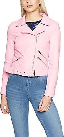 New Look Borg Collar, Chaqueta para Mujer, Na, Rosa (Light Pink 70), 44