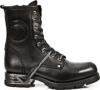 Herren M-PS028-S1 Biker Boots, Schwarz (Grey 001), 45 EU New Rock