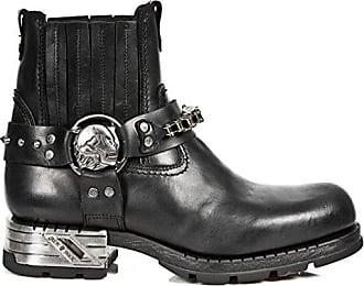 New Rock Boots M.MR024-C1 Urban Biker Hardrock Herren Stiefelette Schwarz, EU 40 New Rock
