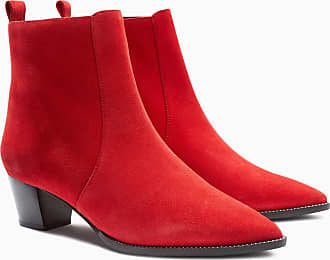 Next Western-Stiefeletten mit kleinen Nieten, rot, Red