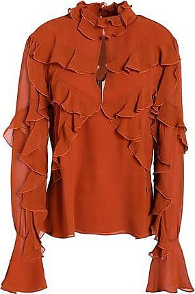 Clearance Footlocker Finishline Best Online Nicholas Woman Cutout Ruffled Washed-silk Blouse Orange Size 6 Nicholas Visit New Sale Online Cheap Top Quality Shopping Online Free Shipping NV6pd