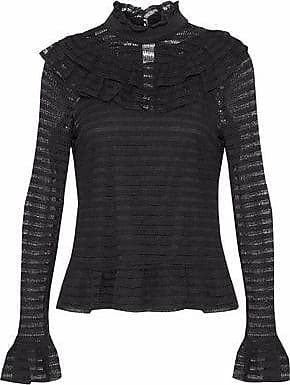 Outlet Perfect Particular Nicholas Woman Gathered Cutout Flocked Tulle Blouse Black Size 2 Nicholas d52x9c