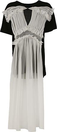 Dress for Women, Evening Cocktail Party On Sale, Black, Cotton, 2017, 12 NICOPANDA