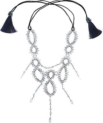 Nightmarket Necklaces On Sale, Ruthenium, Crystal, 2017, One Size