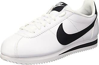 Nike WMNS Classic Cortez Leather, Chaussures de Sport Femme, Multicolore (White/Black-White 101), 43 EU
