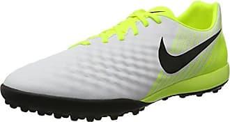 Nike Magistax Ola II, Chaussures de Football Entrainement Homme, Blanc (White/Black-Vert Volt-Wolf Grey), 44.5 EU