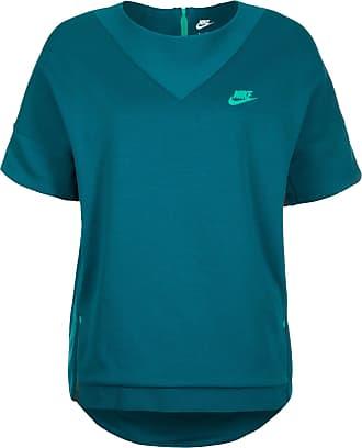 Tech Fleece Crew Sweatshirt Damen, grün, petrol / grün Nike