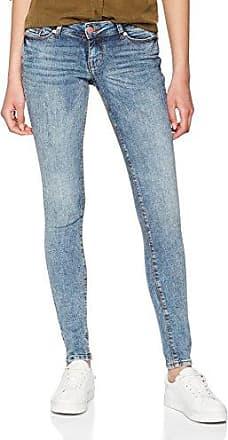 Noisy May Nmeve Lw Ss 2 Zip Jeans Dkbl Noos, Mujer, Azul (Dark Blue Denim), W26/L32 (Talla del fabricante: 26)