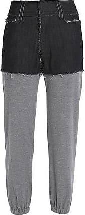 Norma Kamali Woman Paneled Denim And Jersey Track Pants Gray Size 8 Norma Kamali Order For Sale Prices View For Sale In China Sale Online RWd5SI